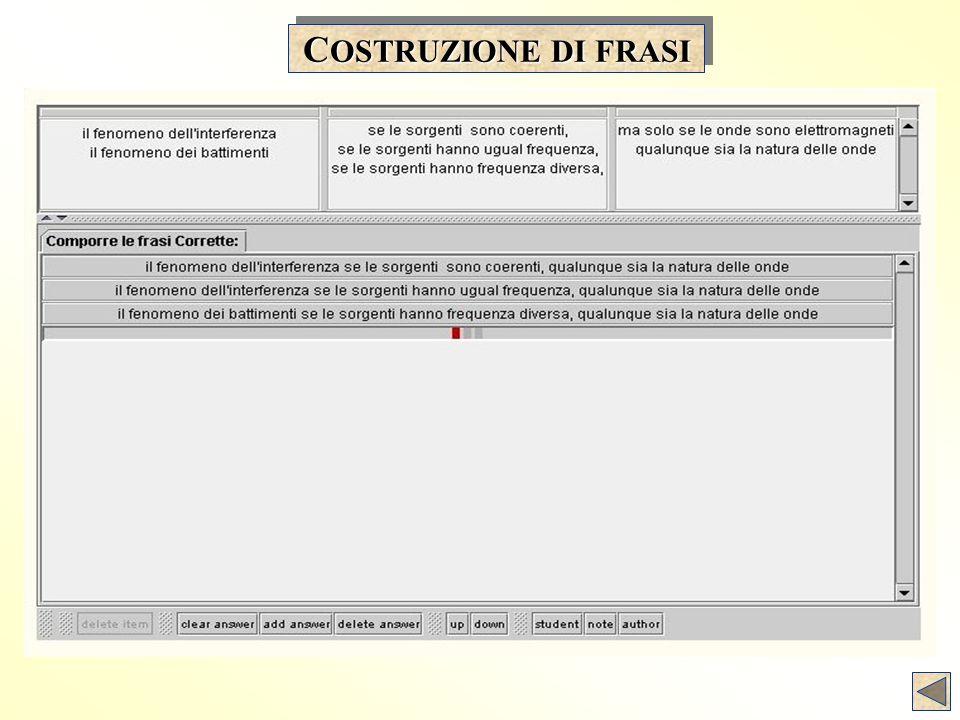 C OSTRUZIONE DI FRASI
