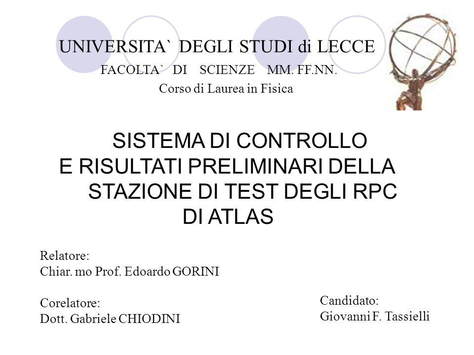 Relatore: Chiar. mo Prof. Edoardo GORINI Corelatore: Dott. Gabriele CHIODINI Candidato: Giovanni F. Tassielli UNIVERSITA` DEGLI STUDI di LECCE FACOLTA
