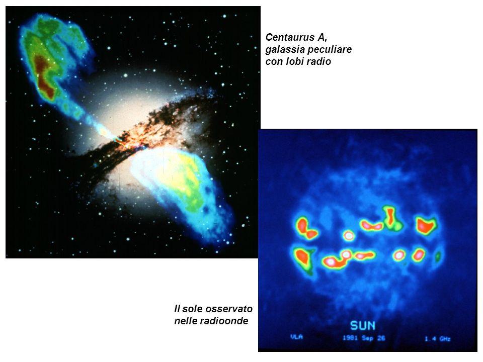 Centaurus A, galassia peculiare con lobi radio Il sole osservato nelle radioonde