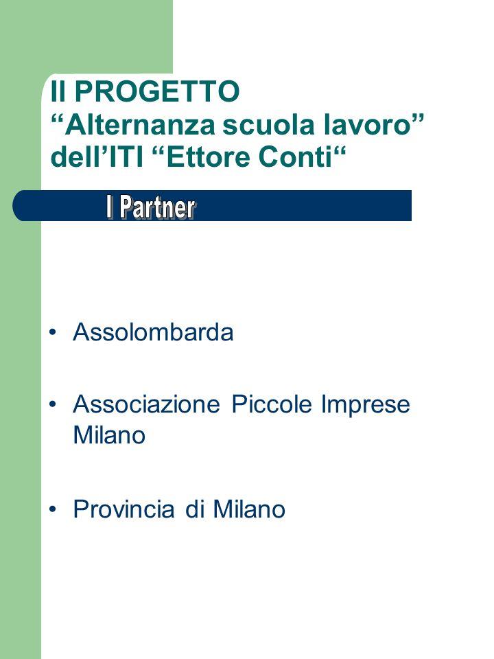 Il PROGETTO Alternanza scuola lavoro dellITI Ettore Conti Assolombarda Associazione Piccole Imprese Milano Provincia di Milano