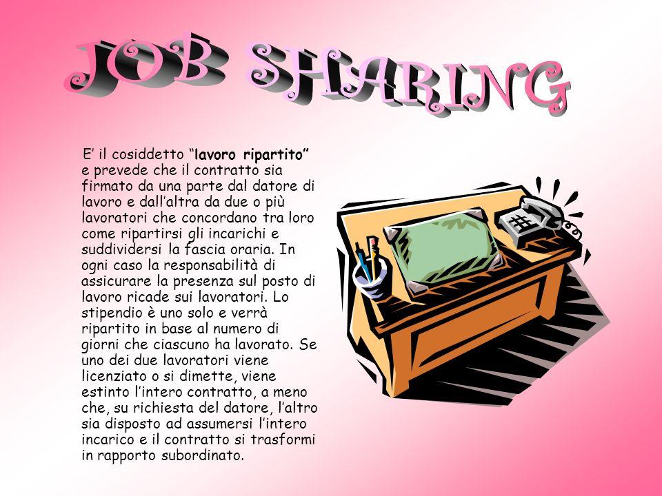 Il lavoro a chiamata, detto anche job on call o lavoro intermittente, è un contratto con il quale il lavoratore si mette a disposizione del datore di