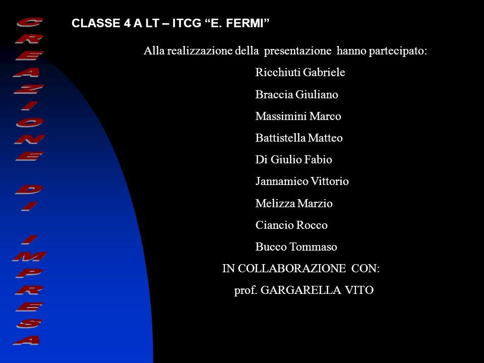 Alla realizzazione della presentazione hanno partecipato: Ricchiuti Gabriele Braccia Giuliano Massimini Marco Battistella Matteo Di Giulio Fabio Janna