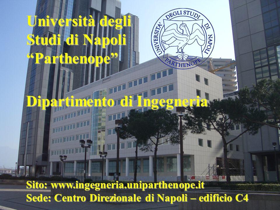 Sito: www.ingegneria.uniparthenope.it Sede: Centro Direzionale di Napoli – edificio C4 Dipartimento di Ingegneria Università degli Studi di Napoli Par