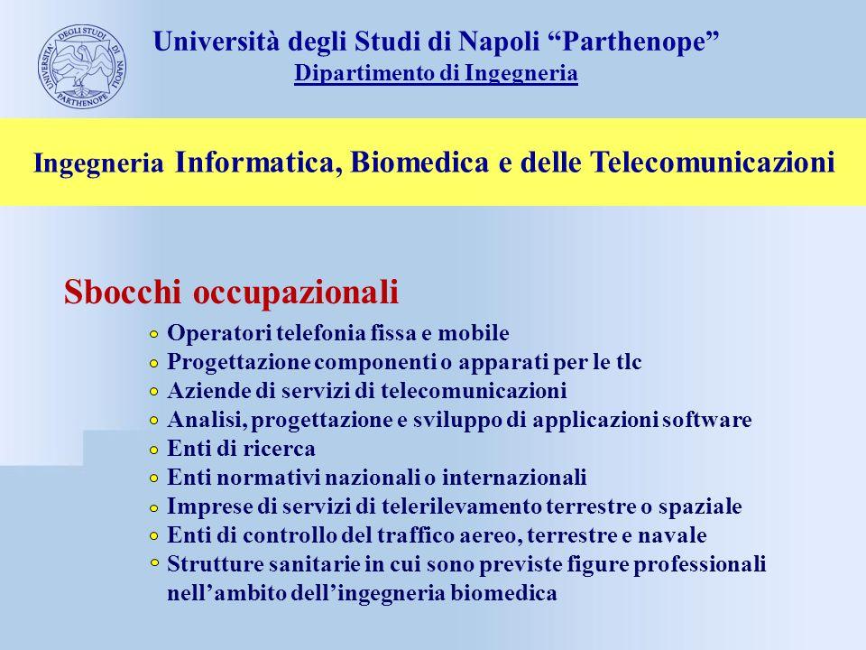 Sbocchi occupazionali Operatori telefonia fissa e mobile Progettazione componenti o apparati per le tlc Aziende di servizi di telecomunicazioni Analis