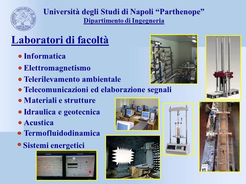 Università degli Studi di Napoli Parthenope Dipartimento di Ingegneria Laboratori di facoltà Materiali e strutture Idraulica e geotecnica Acustica Inf