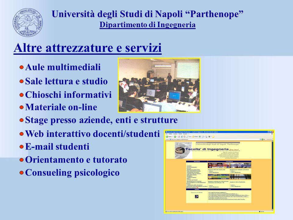 Università degli Studi di Napoli Parthenope Dipartimento di Ingegneria Altre attrezzature e servizi Stage presso aziende, enti e strutture Web interat
