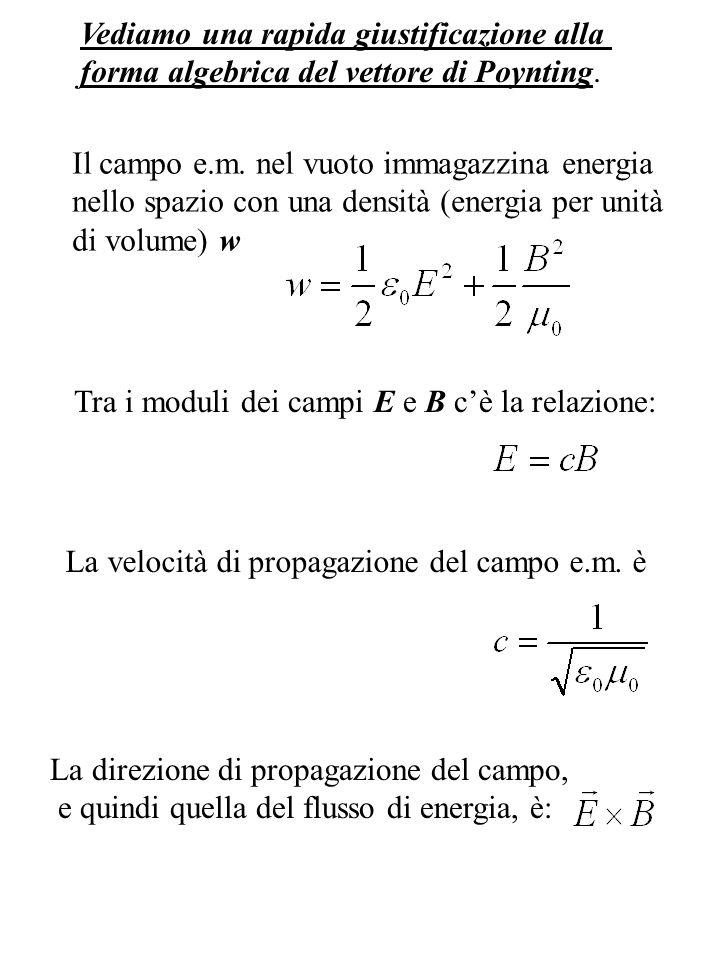 Combinando il tutto, la densità di energia del campo e.m.
