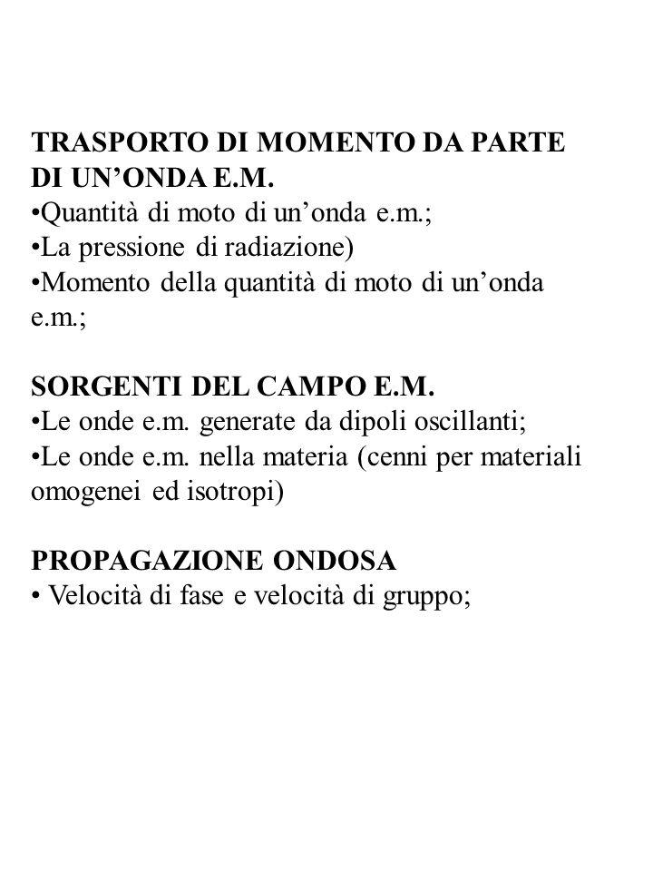 TRASPORTO DI MOMENTO DA PARTE DI UNONDA E.M.