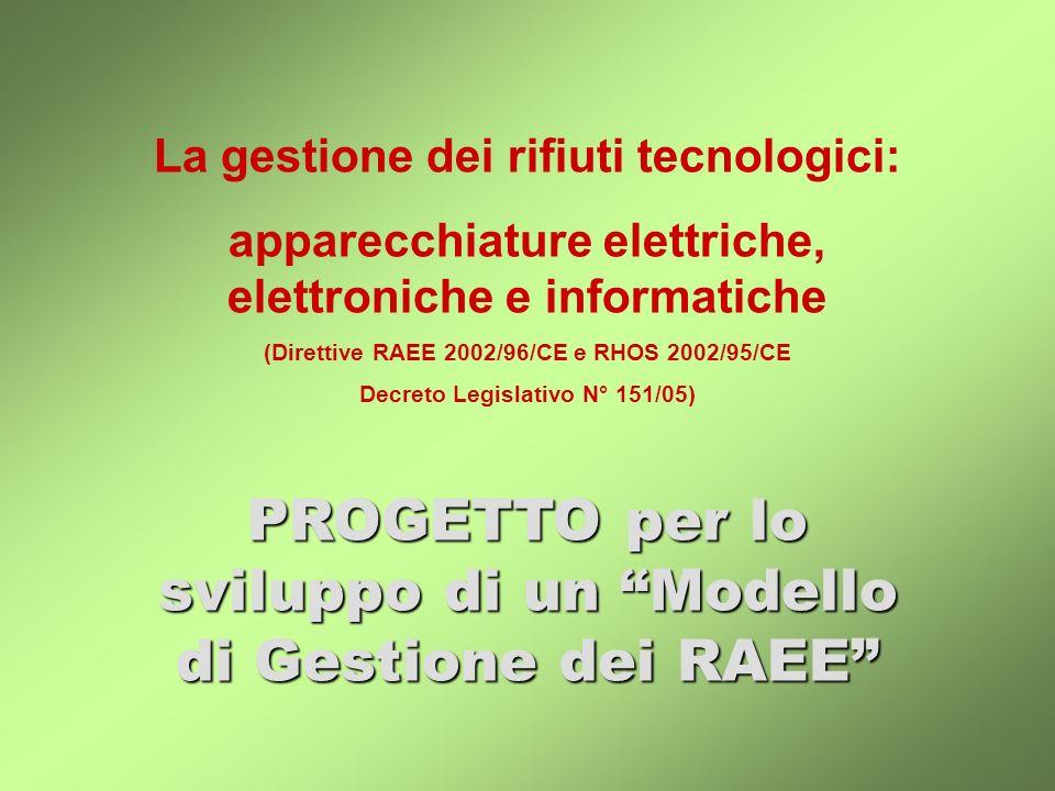 La gestione dei rifiuti tecnologici: apparecchiature elettriche, elettroniche e informatiche (Direttive RAEE 2002/96/CE e RHOS 2002/95/CE Decreto Legi