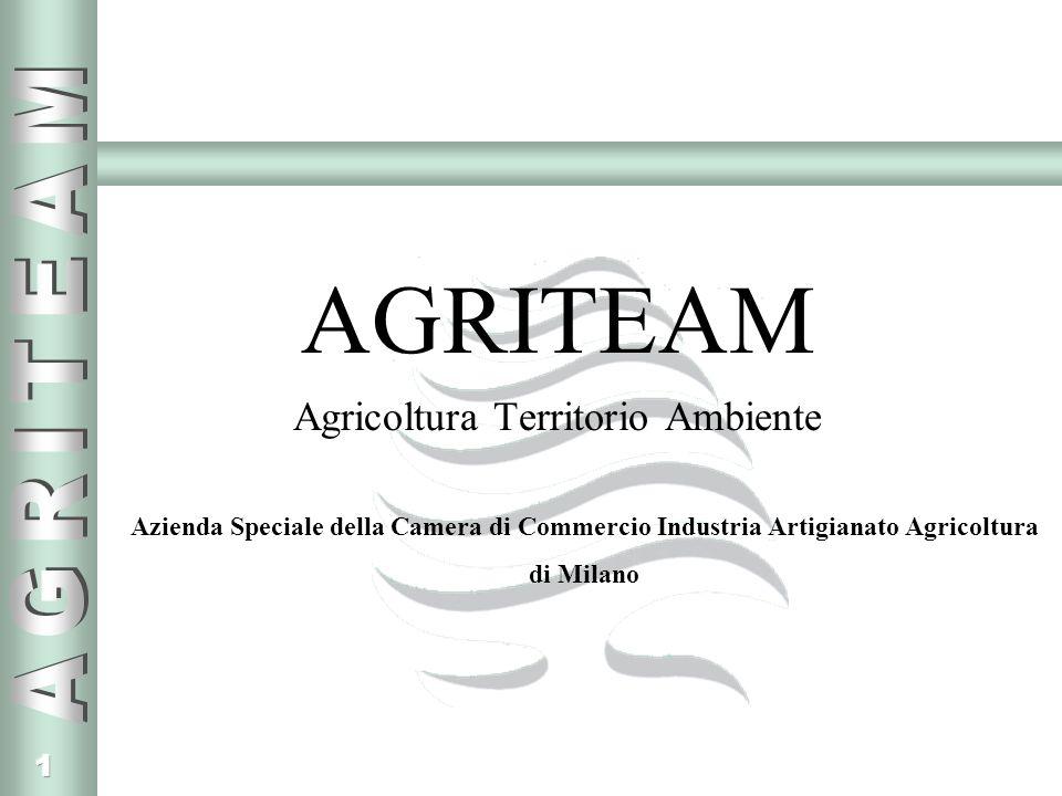 1 AGRITEAM Agricoltura Territorio Ambiente Azienda Speciale della Camera di Commercio Industria Artigianato Agricoltura di Milano