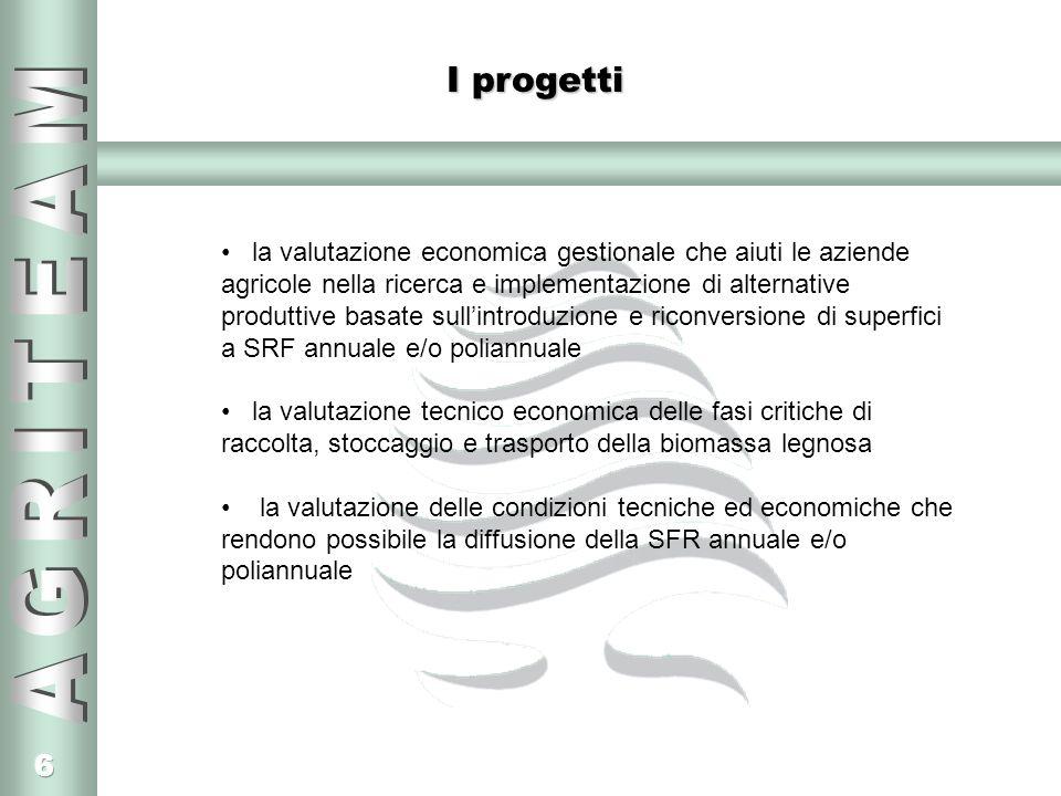 6 I progetti la valutazione economica gestionale che aiuti le aziende agricole nella ricerca e implementazione di alternative produttive basate sullin