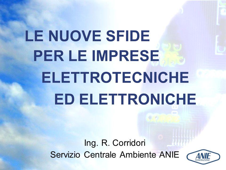 DIRETTIVA 2005/32/CE EUP Interessa tutte le apparecchiature che consumano energia, da quella elettrica a quella fossile.