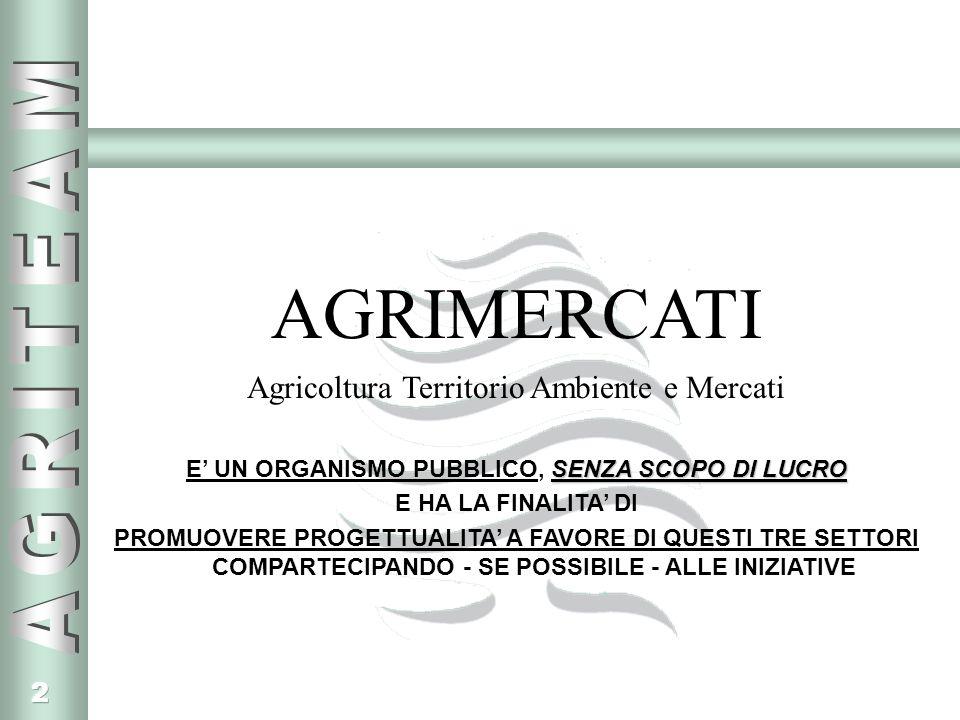 43 RIFERIMENTI Agrimercati Agricoltura Territorio Ambiente e Mercati Sede legale: Via Gran San Bernardo - Strada n.