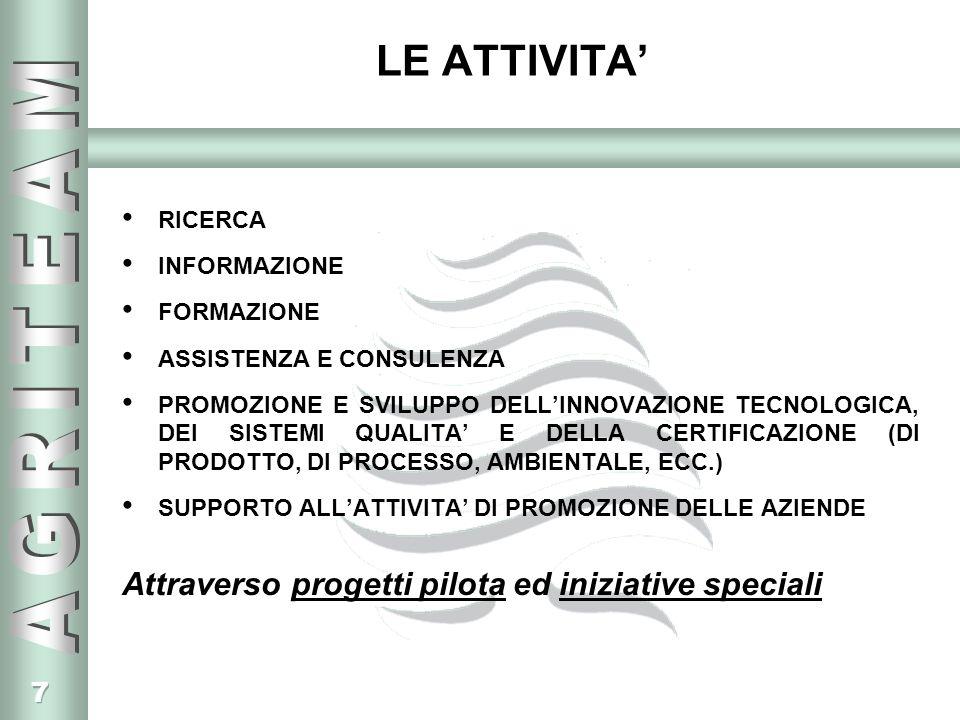 28 I PROGETTI REALIZZATI SECONDO GLI OBIETTIVI 3.FACILITARE LA PROGETTAZIONE E LA REALIZZAZIONE DI POLITICHE DI QUALITA (segue) Convegno Internazionale sulla Tracciabilità agroalimentare per Regione Lombardia, in collaborazione con MIPAF, Commissione Europea, le Associazioni Agricole, Federalimentare, Università degli Studi di Milano, le Associazioni dei Consumatori, partners tecnologici, ecc.