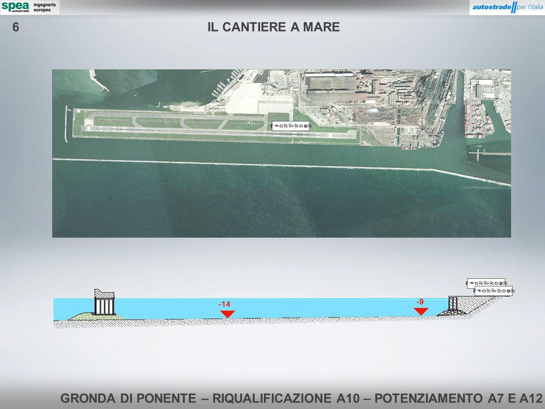 GRONDA DI PONENTE – RIQUALIFICAZIONE A10 – POTENZIAMENTO A7 E A12 Rilancio Acqua alla TBM Trasporto SLURRY -9 AEROPORTO IL CANTIERE A MARE6