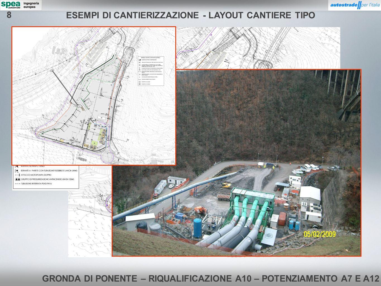 GRONDA DI PONENTE – RIQUALIFICAZIONE A10 – POTENZIAMENTO A7 E A12 ESEMPI DI CANTIERIZZAZIONE - CAMPO BASE 8
