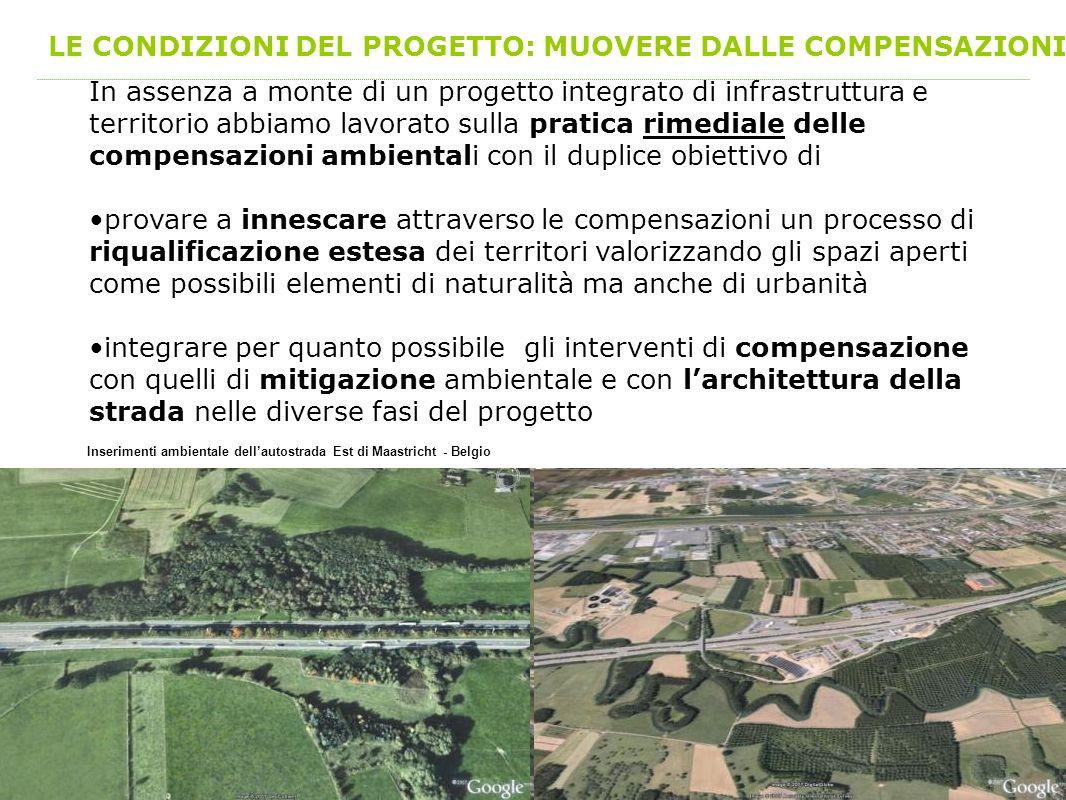 LE CONDIZIONI DEL PROGETTO: MUOVERE DALLE COMPENSAZIONI In assenza a monte di un progetto integrato di infrastruttura e territorio abbiamo lavorato su