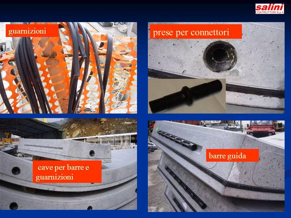 L.Cassola 4 guarnizioni prese per connettori barre guida cave per barre e guarnizioni