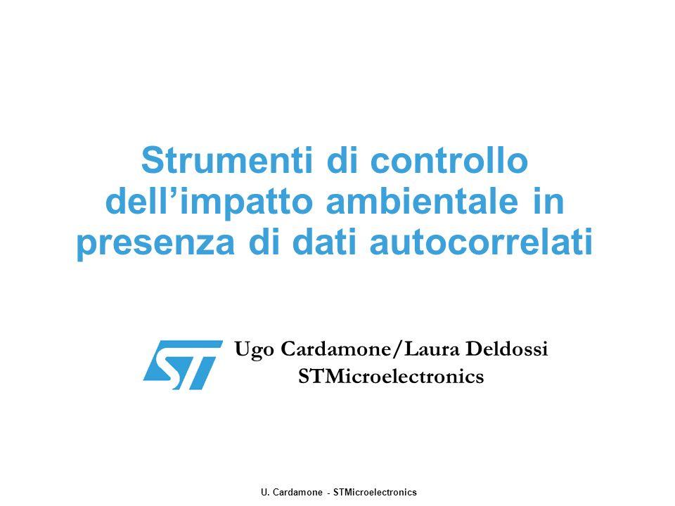Strumenti di controllo dellimpatto ambientale in presenza di dati autocorrelati Ugo Cardamone/Laura Deldossi STMicroelectronics U. Cardamone - STMicro