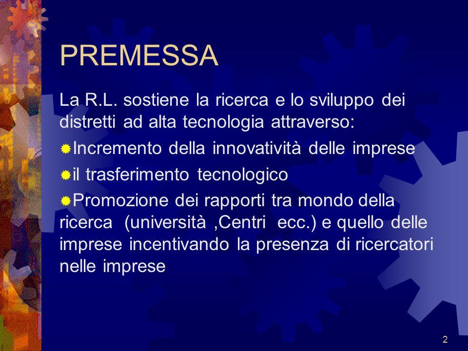 3 I settori di interesse Biotecnologie Materiali avanzati Tecnologie per linformazione e comunicazione (ICT)