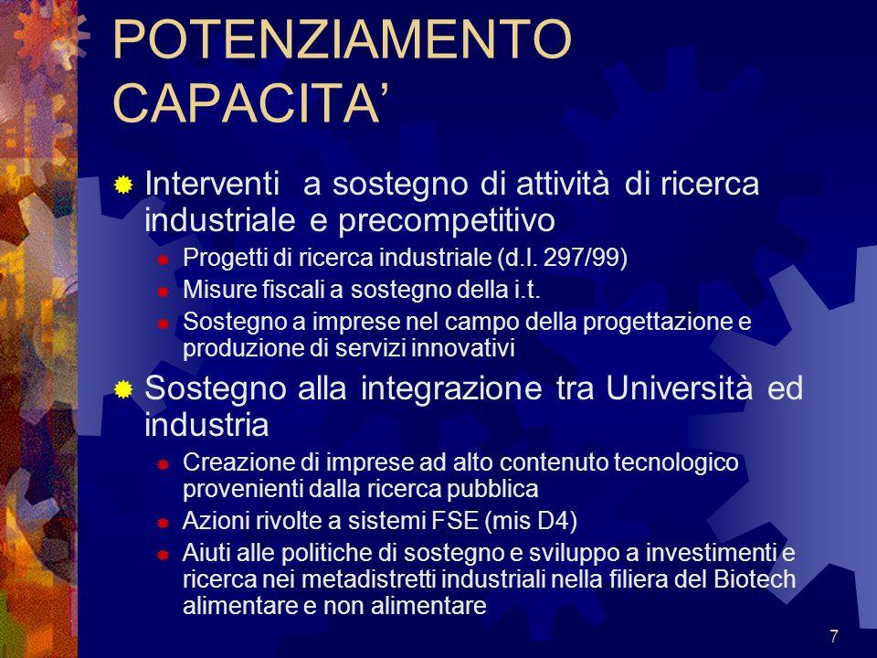8 POTENZIAMENTO CULTURA Diffusione e consolidamento delli.t.