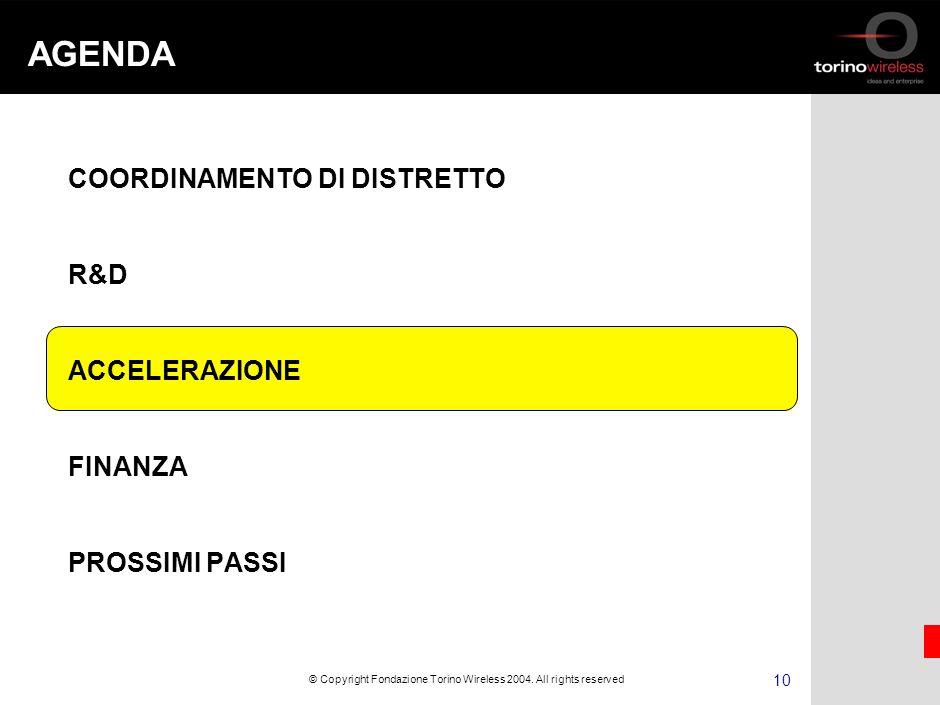 9 © Copyright Fondazione Torino Wireless 2004.