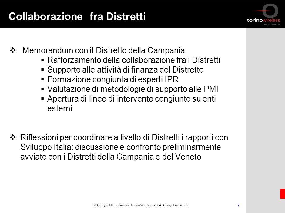6 © Copyright Fondazione Torino Wireless 2004.