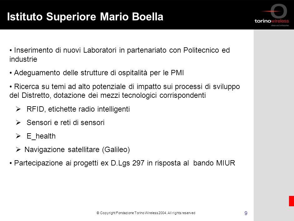 8 © Copyright Fondazione Torino Wireless 2004.