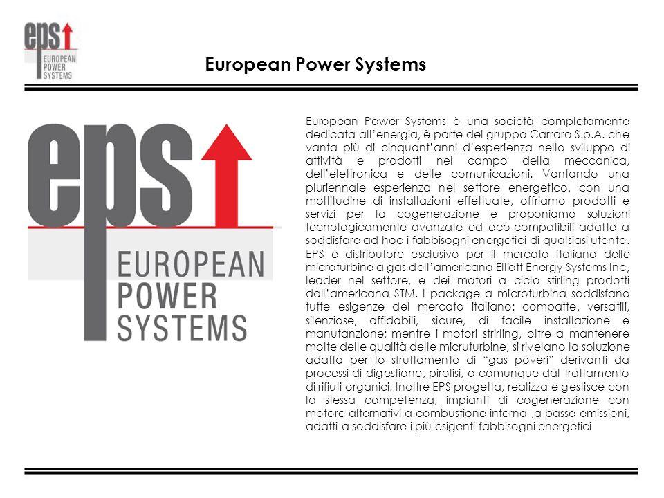 European Power Systems è una società completamente dedicata allenergia, è parte del gruppo Carraro S.p.A. che vanta più di cinquantanni desperienza ne