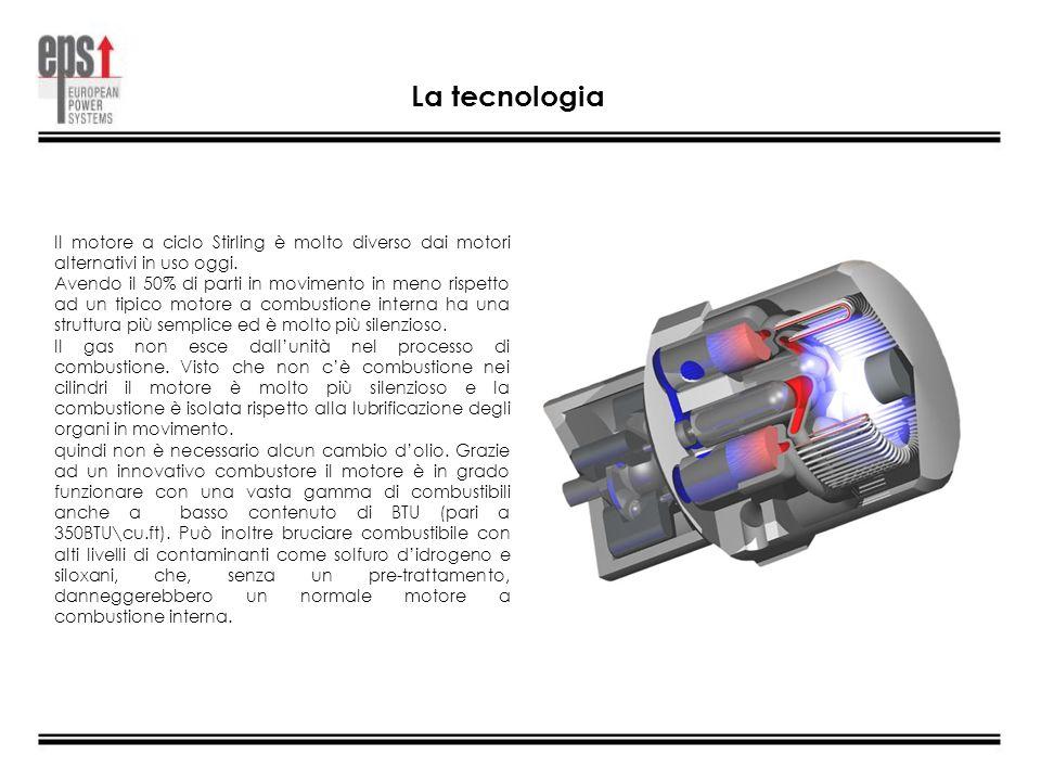 La tecnologia Il motore a ciclo Stirling è molto diverso dai motori alternativi in uso oggi. Avendo il 50% di parti in movimento in meno rispetto ad u