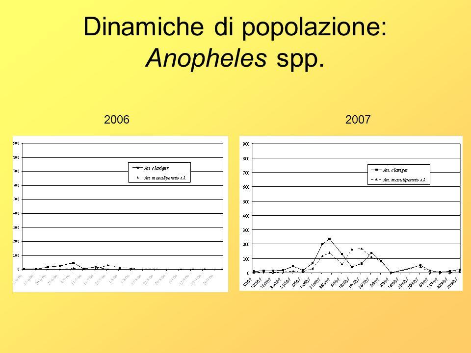 Dinamiche di popolazione: Anopheles spp. 20062007