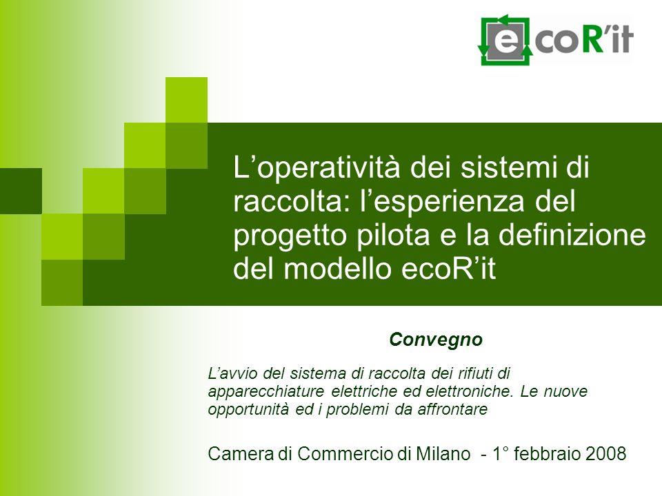 Loperatività dei sistemi di raccolta: lesperienza del progetto pilota e la definizione del modello ecoRit Convegno Lavvio del sistema di raccolta dei