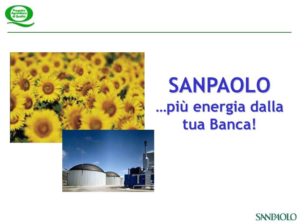 SANPAOLO …più energia dalla tua Banca!