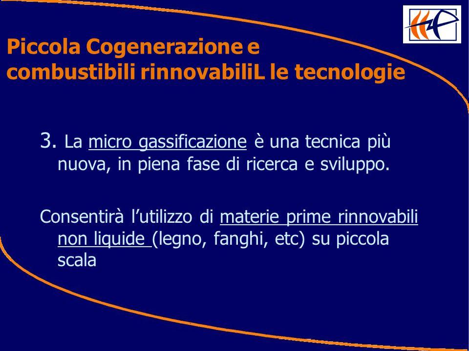 3. La micro gassificazione è una tecnica più nuova, in piena fase di ricerca e sviluppo.