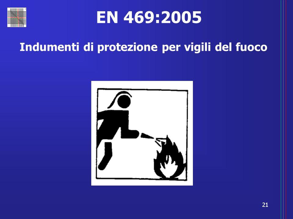 21 EN 469:2005 Indumenti di protezione per vigili del fuoco