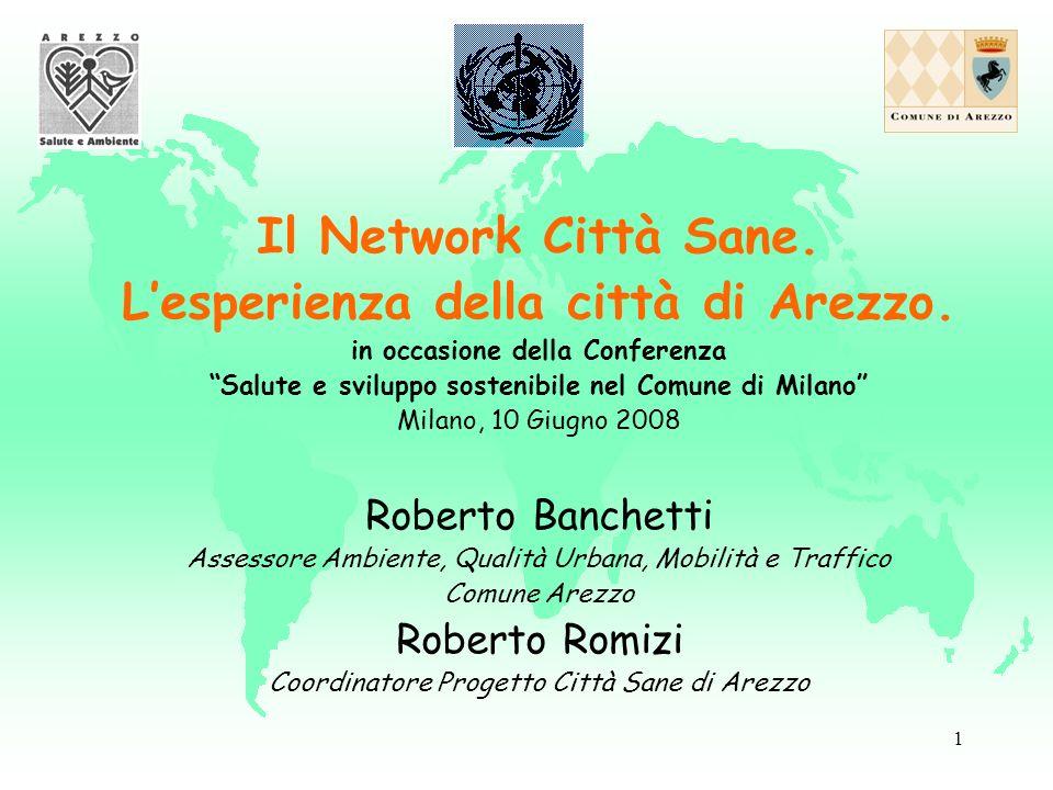 1 Il Network Città Sane. Lesperienza della città di Arezzo.
