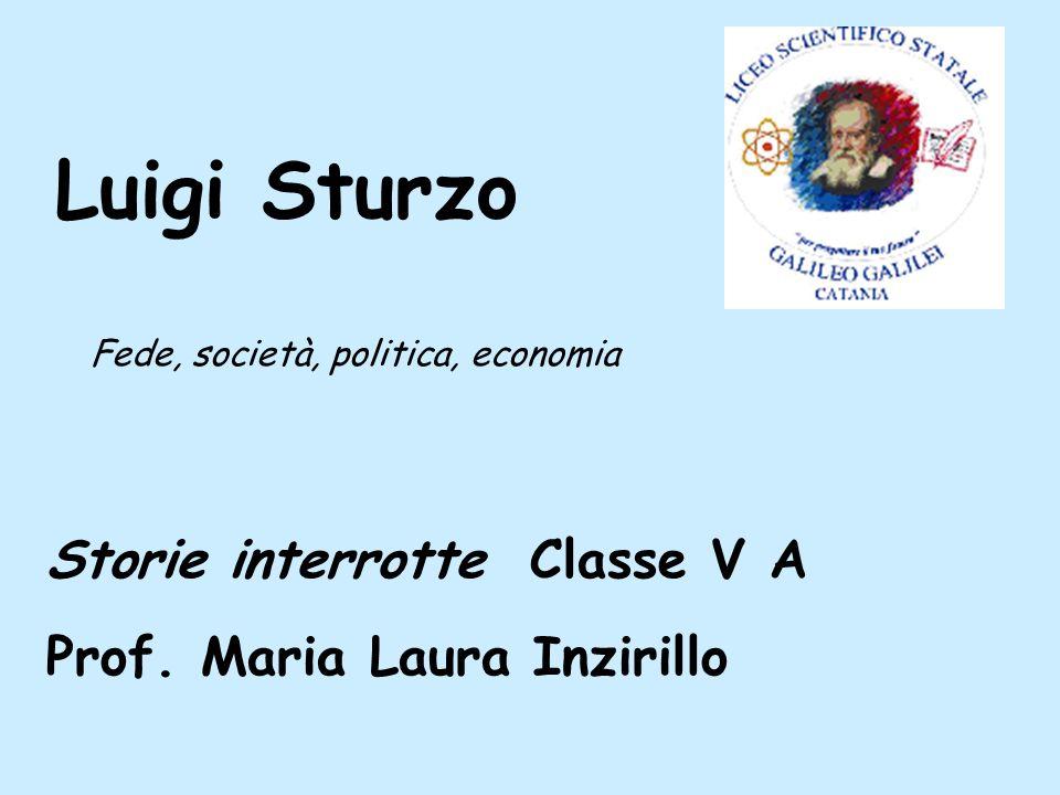Lostracismo Il progressivo allontanamento di Sturzo dalla politica nazionale prende le mosse dalle stesse fila cattoliche.