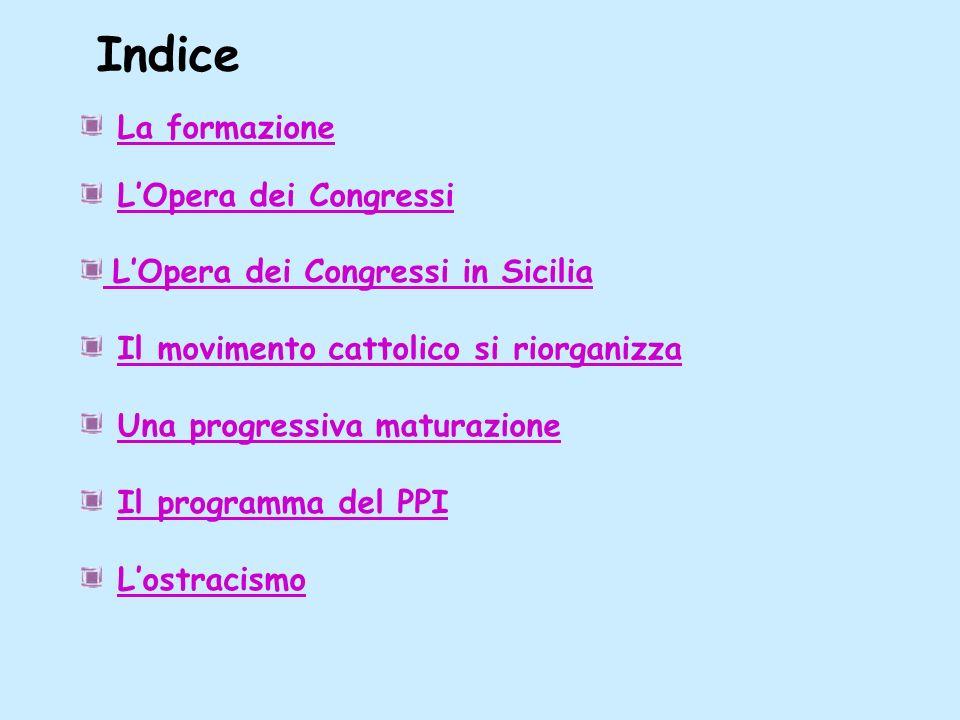 Opera in siciliaOpera in sicilia LOpera dei Congressi in Sicilia Nellaprile del 1891, sotto limpulso di papa Leone XIII, si tiene la prima conferenza episcopale della Sicilia dove si raccomanda di istituire associazioni cattoliche.