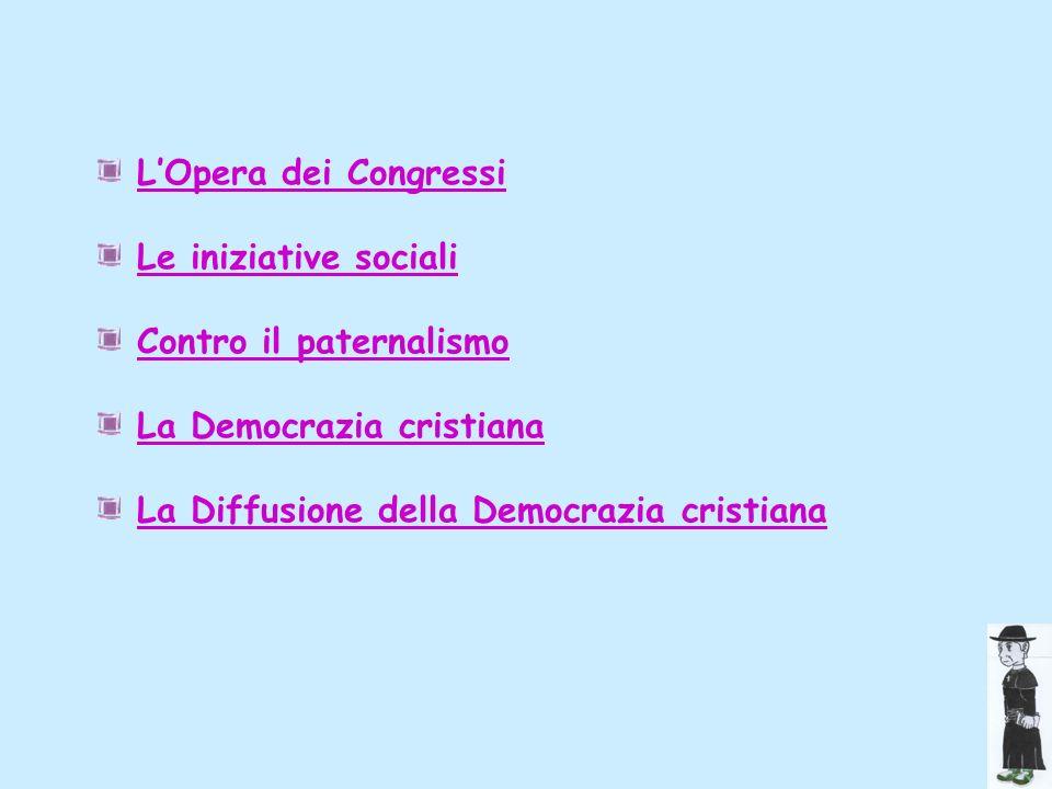 Lattività assistenziale Negli anni tra il 1894 e il 1896, dopo lesperienza dei Fasci siciliani e dopo la parentesi romana, Sturzo mette in moto la macchina dellassistenza sociale promossa dallenciclica di Leone XIII.