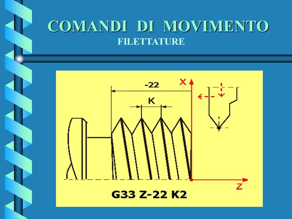 COMANDI DI MOVIMENTO FILETTATURE