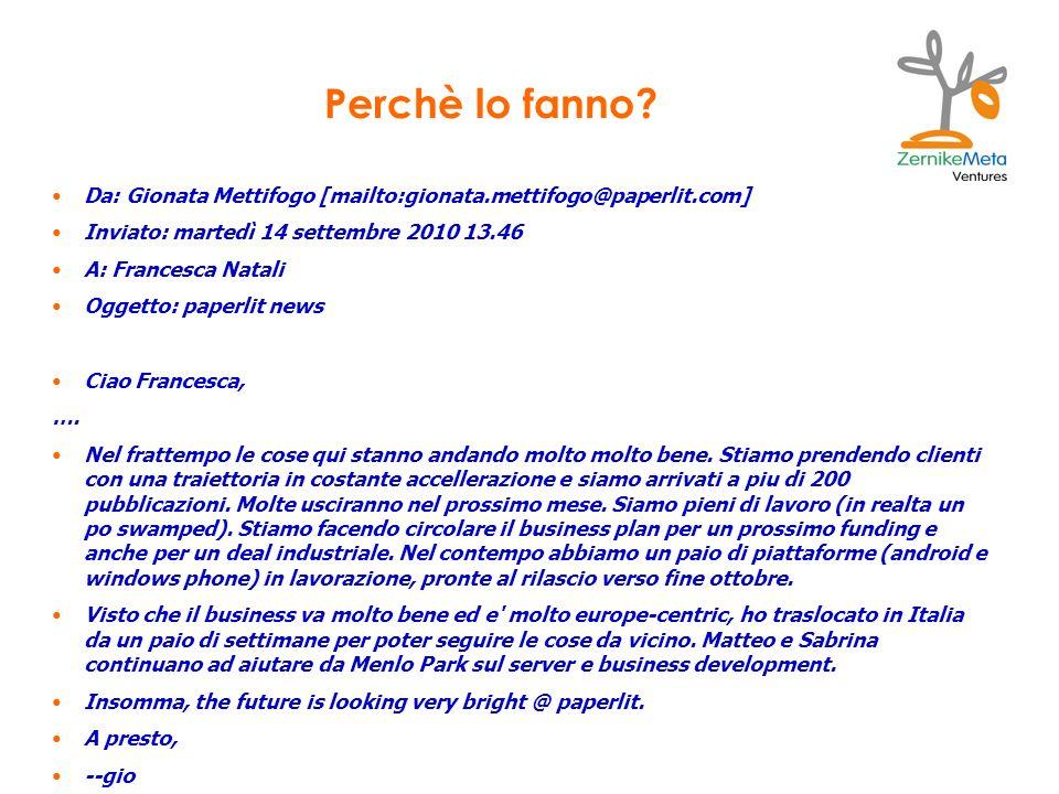 Da: Gionata Mettifogo [mailto:gionata.mettifogo@paperlit.com] Inviato: martedì 14 settembre 2010 13.46 A: Francesca Natali Oggetto: paperlit news Ciao Francesca, ….