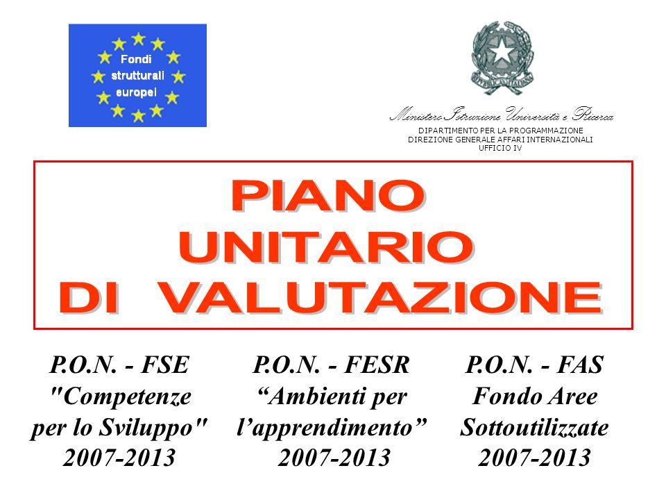 P.O.N. - FSE Competenze per lo Sviluppo 2007-2013 P.O.N.