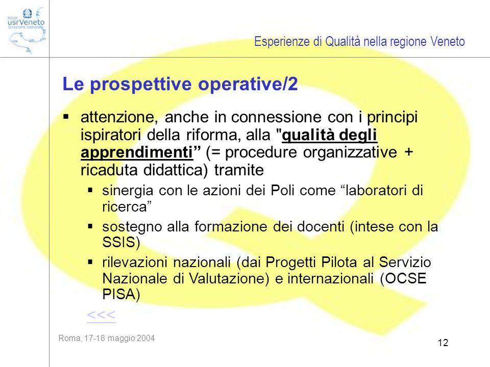 Roma, 17-18 maggio 2004 12 attenzione, anche in connessione con i principi ispiratori della riforma, alla