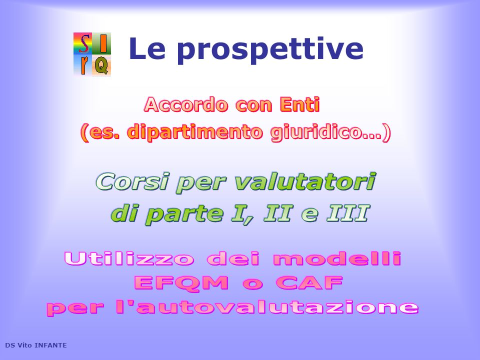 Le prospettive DS Vito INFANTE