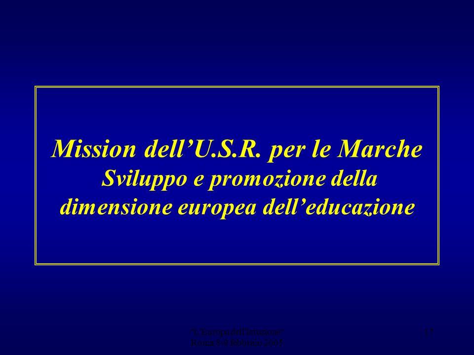 L Europa dell Istuzione Roma 8-9 febbraio 2005 16 Gli artigiani