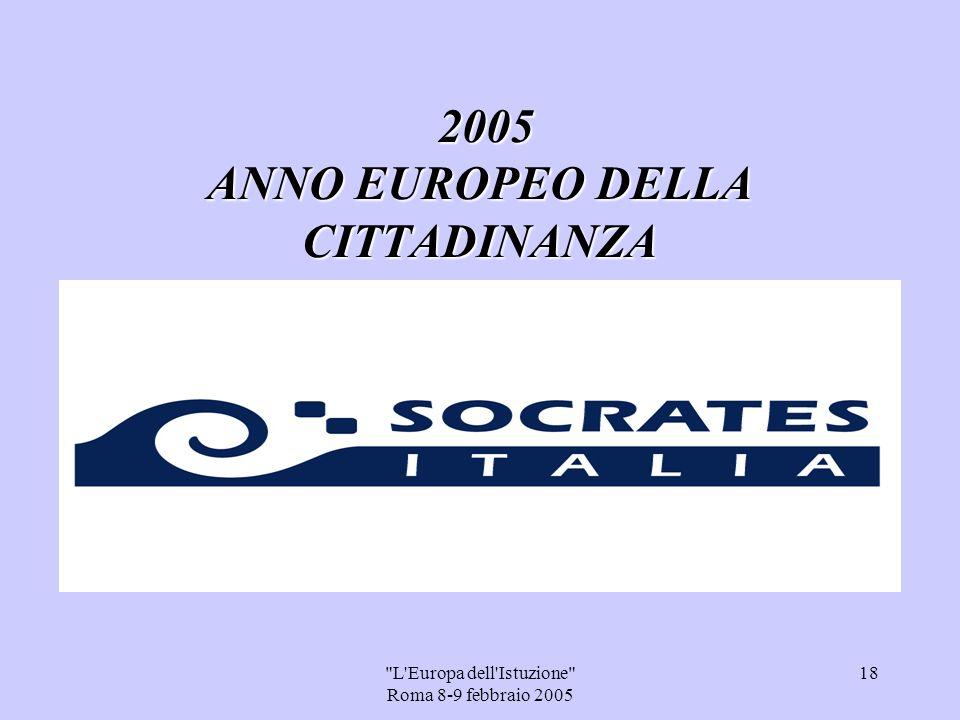 L Europa dell Istuzione Roma 8-9 febbraio 2005 17 Mission dellU.S.R.