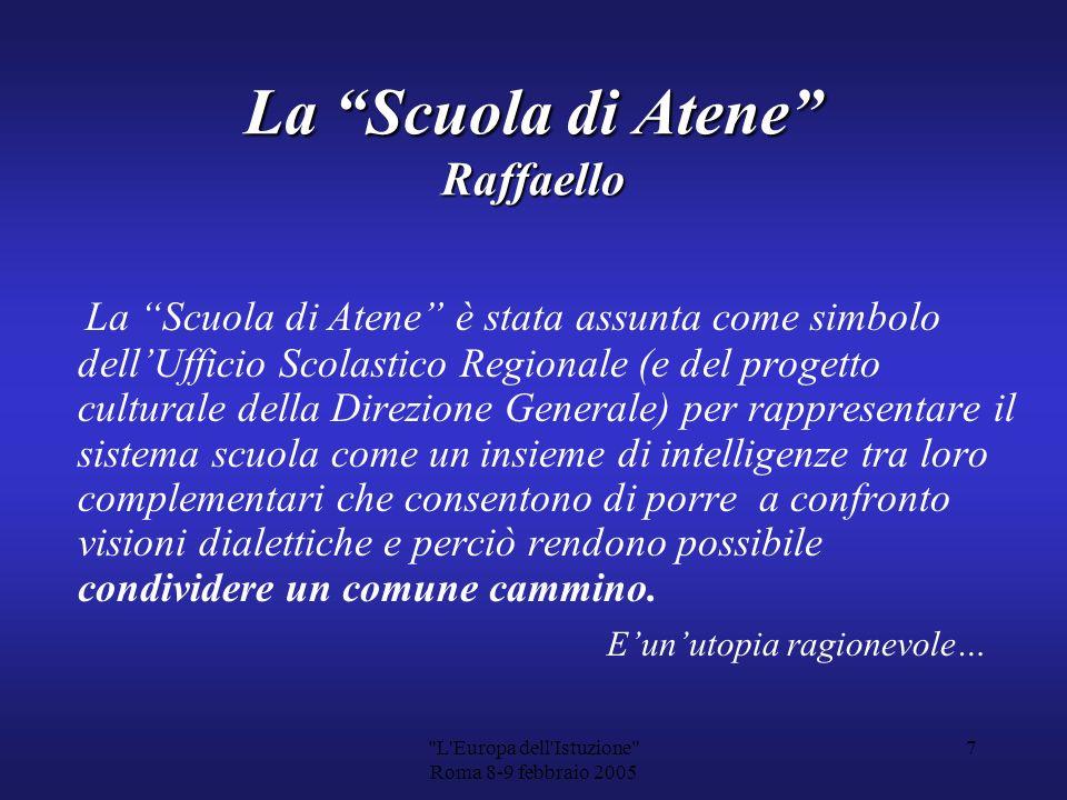 L Europa dell Istuzione Roma 8-9 febbraio 2005 6 La cultura è il denominatore che ha dato allEuropa unidentità comune.
