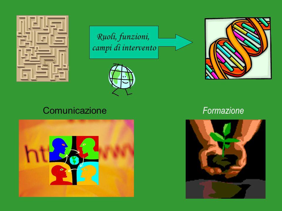 Comunicazione Ruoli, funzioni, campi di intervento Formazione