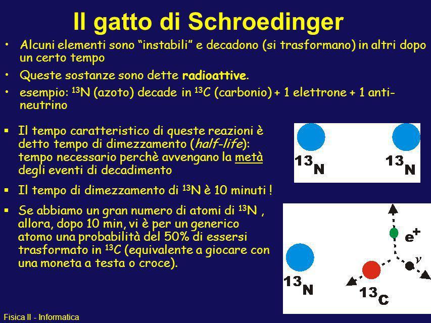 Fisica II - Informatica Il gatto di Schroedinger un paradosso della meccanica quantistica ovvero quando il senso comune non ci aiuta a risolvere i pro