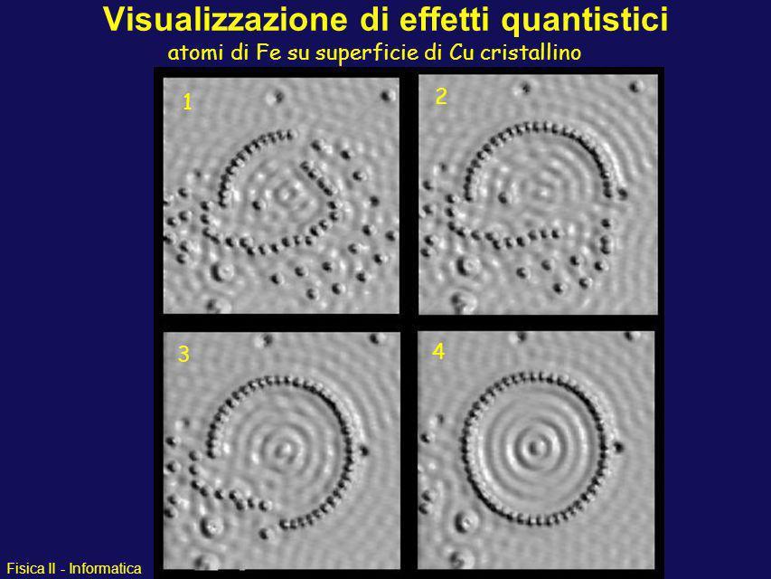 Fisica II - Informatica Visualizzazione di effetti quantistici Microscopia a scansione ad effetto tunnel Microscopia a scansione ad effetto tunnel (Bi